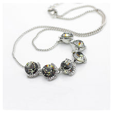 Load image into Gallery viewer, Elegant Gray Crystal Necklace (40cm)