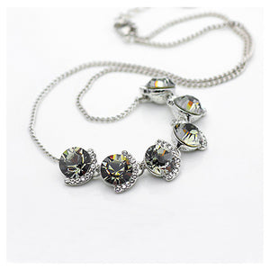 Elegant Gray Crystal Necklace (40cm)