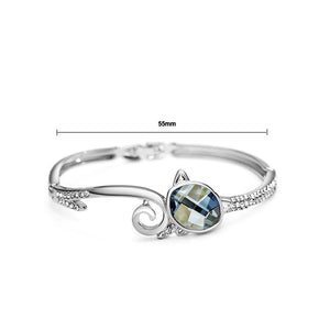 Elegant Blue Crystal Bangle