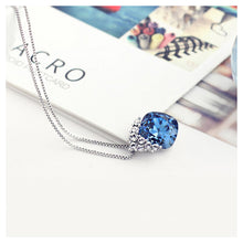 Load image into Gallery viewer, Brilliant Blue Crystal Pendant with 45cm Necklace