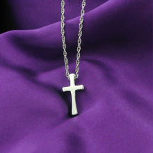 Load image into Gallery viewer, Fashion Tungsten Cross Pendant  with Stainless Steel Necklace For Women