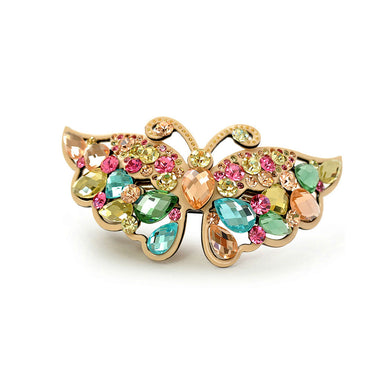 Colorful Crystal Butterfly Hair Clips