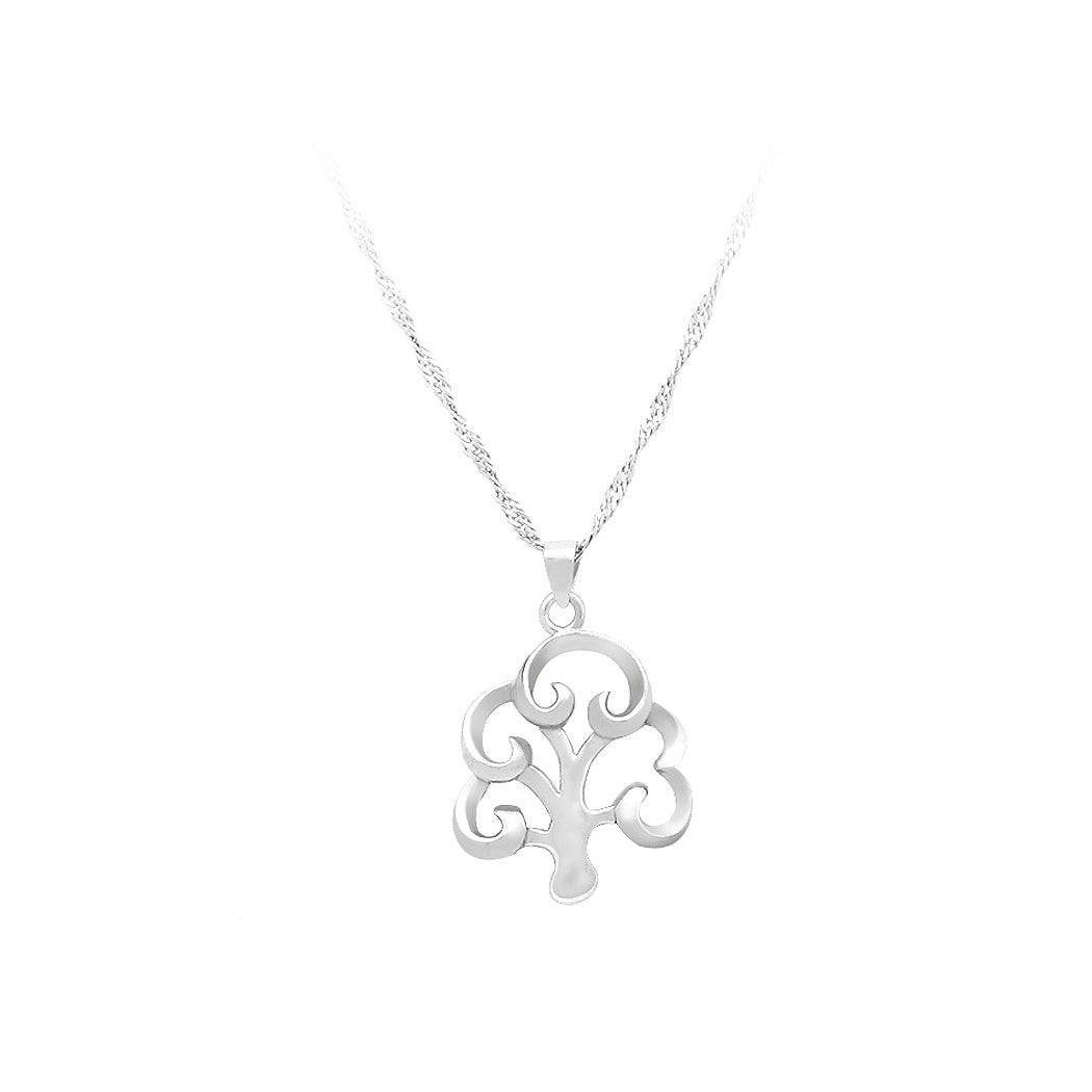 925 Sterling Silver Tree Pendant with Necklace