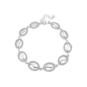 925 Sterling Silver with White Cubic Zircon Bracelet