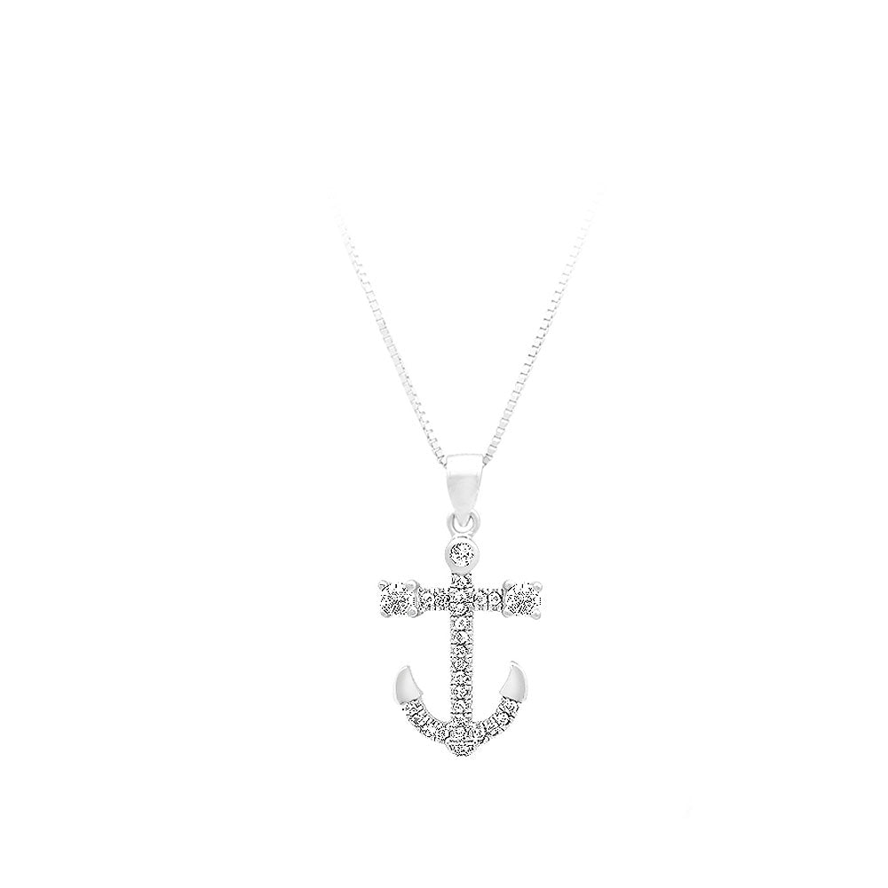 925 Sterling Silver Twelve Constellations Of Sagittarius Pendant with White Cubic Zircon and Necklace