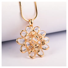 Load image into Gallery viewer, Elegant Flower Pendant with White Austrian Element Crystal and Necklaces