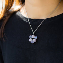 Load image into Gallery viewer, Elegant Pendant with Purple Austrian Element Crystal and Necklaces