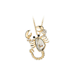 Lovely Lobster Pendant with White Austrian Element Crystal and Necklaces