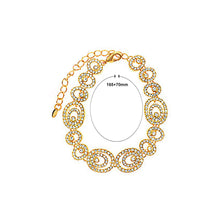 Load image into Gallery viewer, Sparkling Golden Bracelet with White Austrian Element Crystal