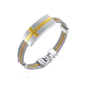 Fashion Stainless Steel and Golden Bracelet For Man