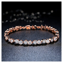 Load image into Gallery viewer, Fashion Rose Goldplated Bracelet with White Cubic Zircon
