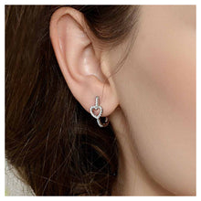 Load image into Gallery viewer, Fashion Heart-shaped Earrings with White Cubic Zircon