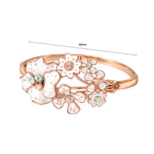 Load image into Gallery viewer, Fashion Rose Golden Plated Bracelet Bracelet with Multi-colored Austrian Element Crystal