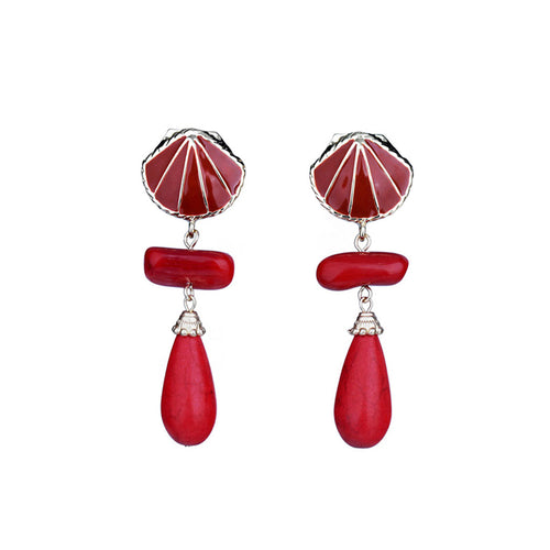 Fashion Shell Non Piercing Earrings