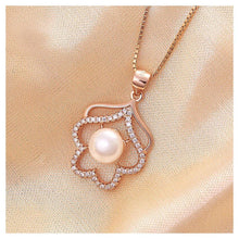 Load image into Gallery viewer, 925 Rose Golden Plated Pendant with White Cubic Zircon and Necklace