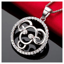 Load image into Gallery viewer, Fashion 925 Sterling Silver Aries Pendant with White Cubic Zircon and Necklace