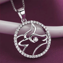 Load image into Gallery viewer, Fashion 925 Sterling Silver Taurus Pendant with White Cubic Zircon and Necklace