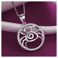 Load image into Gallery viewer, Fashion 925 Sterling Silver Cancer Pendant with White Cubic Zircon and Necklace