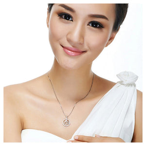 Fashion 925 Sterling Silver Cancer Pendant with White Cubic Zircon and Necklace
