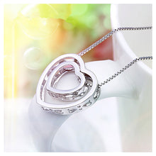 Load image into Gallery viewer, Fashion 925 Sterling Silver Hollow Heart-shaped Pendant and Necklace