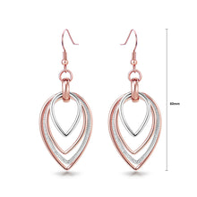 Load image into Gallery viewer, Fashion Multi-layer Plated Rose with White Austrian Element Crystals Earrings