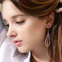 Load image into Gallery viewer, Fashion Gold Earrings with White Austrian Element Crystals