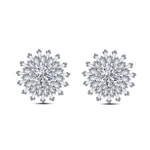 Load image into Gallery viewer, Fashion Snowflake Earrings with White Cubic Zircon