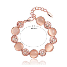 Load image into Gallery viewer, Fashion Lily Bracelet with White Austrian Element Crystal Sand Pink Fashion Cat's Eye