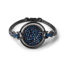 Load image into Gallery viewer, Fashion Circle Bangle with Blue Austrian Element Crystals