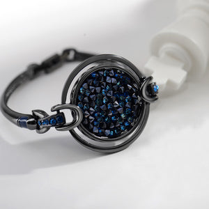 Fashion Circle Bangle with Blue Austrian Element Crystals