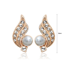 Load image into Gallery viewer, Angel Wings Earrings with White Austrian Element Crystals