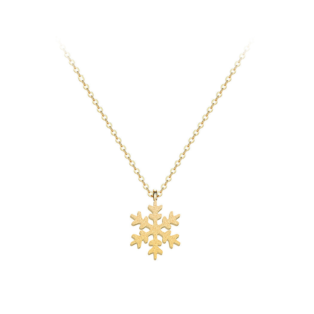 Flashing Snowflakes Pendant with Necklace