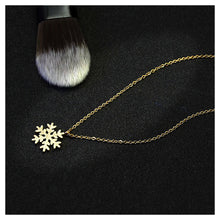 Load image into Gallery viewer, Flashing Snowflakes Pendant with Necklace