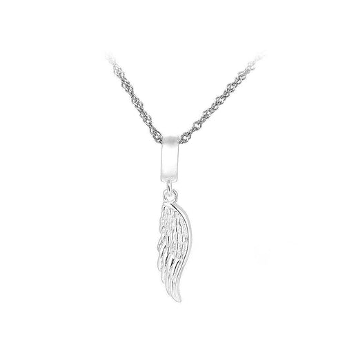 925 Sterling Silver Angel Wing Pendant with Necklace