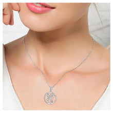 Load image into Gallery viewer, 925 Sterling Silver Elk Pendant with White Austrian Element Crystal and Necklace