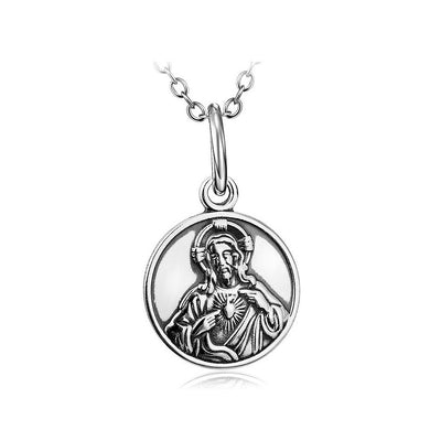 925 Sterling Silver Virgin Pendant with Necklace