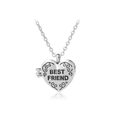Fashion Heart-shaped Photo Frame Pendant with Necklace