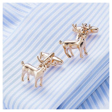 Load image into Gallery viewer, Plated Rose Gold  Elk Cufflinks