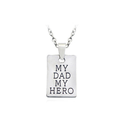 Fashion My Father My Hero Pendant with Necklace