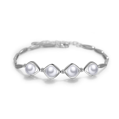 925 Sterling Silver Mother's Day Freshwater Pearl Bracelet