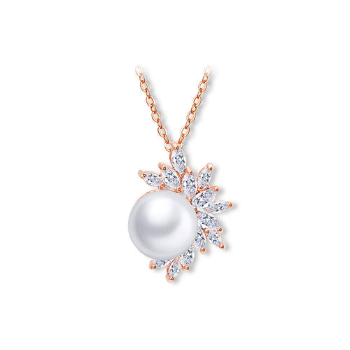 Simple Freshwater Pearl Pendant with Necklace