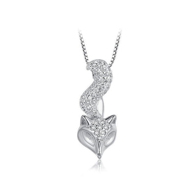 925 Sterling Silver Fox Pendant with Necklace