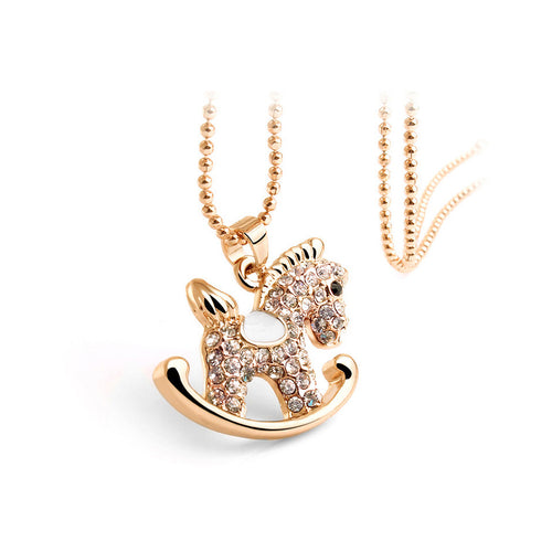 Cute Trojan Pendant with Austrian Element Crystal and Necklace