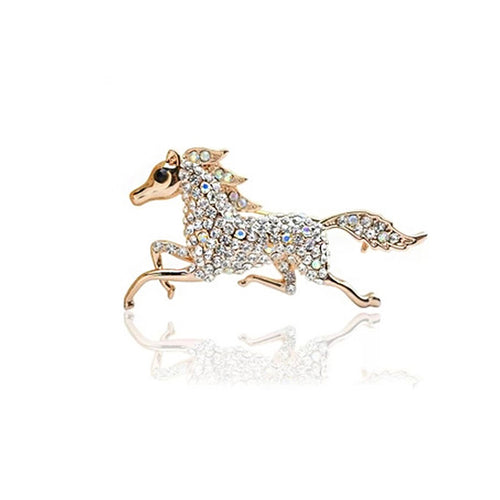 Pony Brooch with Austrian Element Crystal