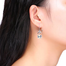 Load image into Gallery viewer, 925 Sterling Silver Snowflake Earrings with White Austrian Element Crystal