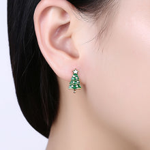 Load image into Gallery viewer, Fashion Christmas Tree Stud Earrings with Austrian Element Crystal