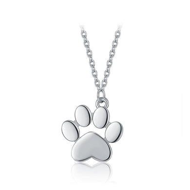 925 Sterling Silver Cute Cat Claw Pendant with Necklace