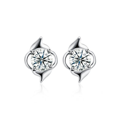 925 Sterling Silver Simple Delicate Mini Cubic Zircon Ear Studs and Earrings