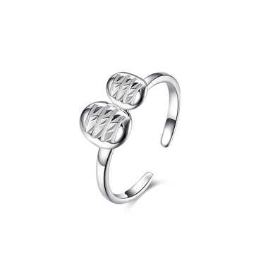 925 Sterling Silver Elegant Fashion Adjustable Opening Ring - Glamorousky