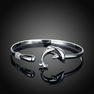 Simple Classic Dolphin Bangle